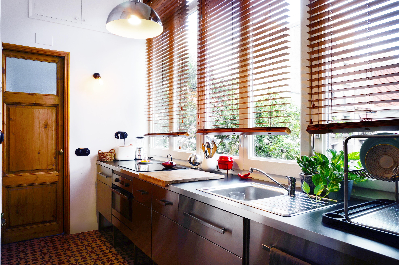 cocina muebles de acero