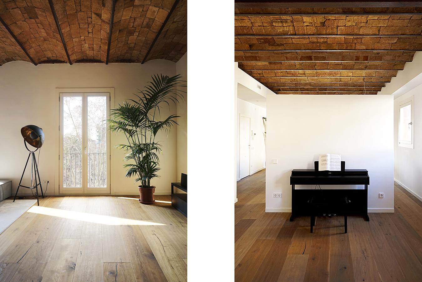 madera y blanco estetica bicolor