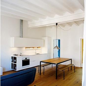 vista salón comedor cocina